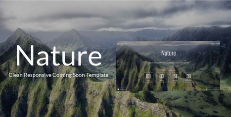 Nature – Clean Responsive Coming Soon Template (Under Construction)   Site Templates Download   Scoop.it