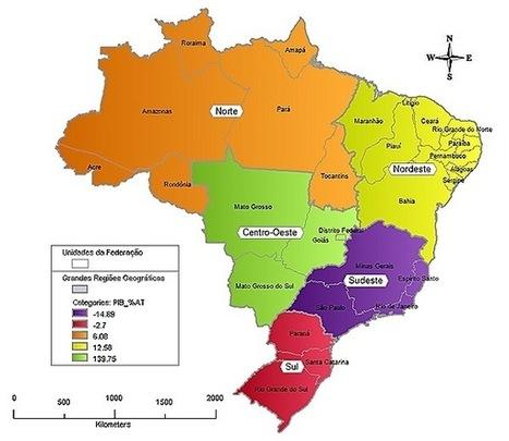 A Organização Geoeconômica do Espaço Brasileiro   geoinformação   Scoop.it