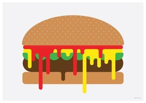 Burger illustration for Burgerac   Food Culture   Scoop.it