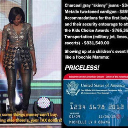 """Money Can't Buy Class Nor Beauty...How embarrassing this is what some call our """"First Lady"""" 