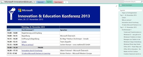 Vorschau Microsoft Innovation&Education Tagung 2013 | OneNote | Scoop.it