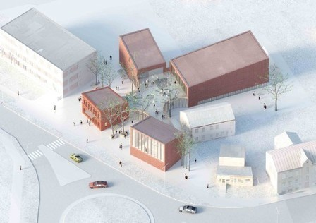 School. Library Building in Bauska Winning Proposal / A2SM Architects | architecture | Scoop.it