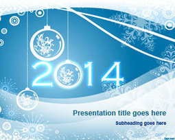 Free Happy New Year 2014 PowerPoint Template | Free Powerpoint Templates | WELL COME | Scoop.it