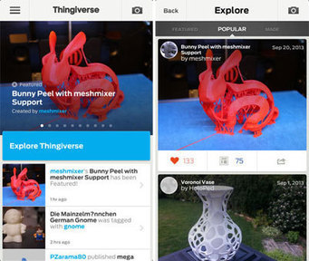 MakerBot Thingiverse gets an iOS app for perusing 3D-printing ... | 3d printing | Scoop.it