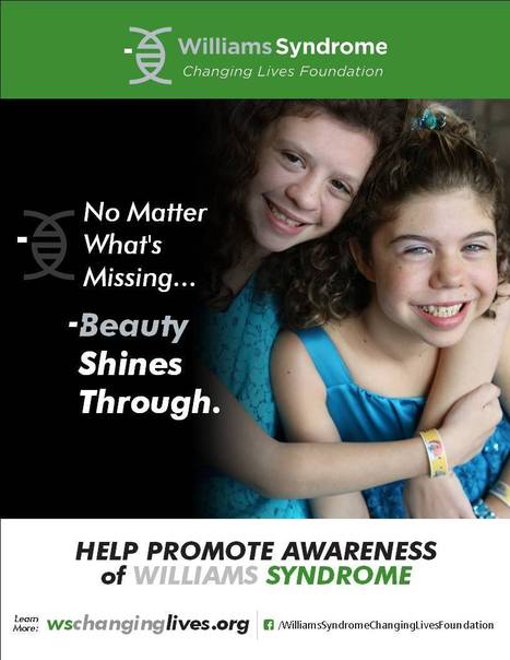 Williams Syndrome Changing Lives Foundation launches Facebook awareness campaign | Williams syndrome | Scoop.it