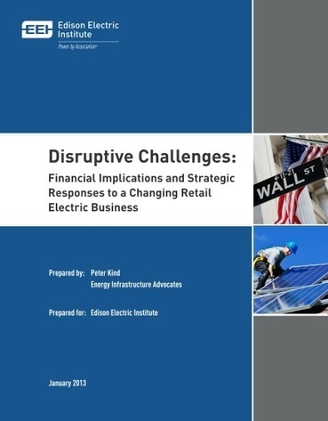 EEI Highlights Coming Retail Electric Disruption | Exas Consulting | Solar Electricity | Scoop.it