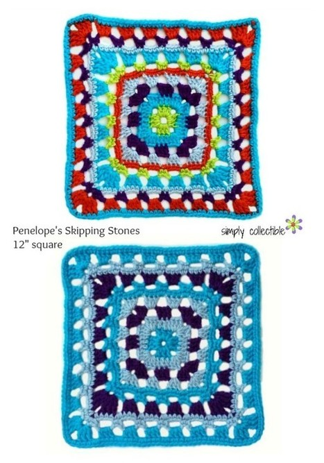 Knitting Patterns For 12 Inch Squares : Autumn 5 Point Star Motif Crochet, Knit, Patt...