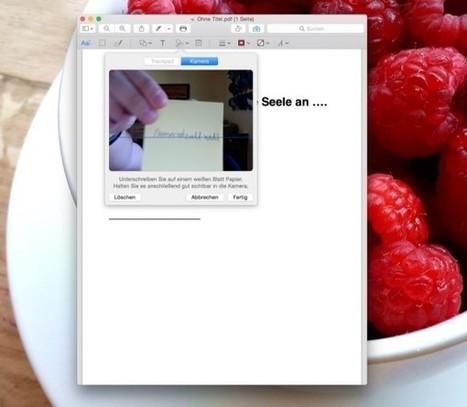 Vorschau-App unter OS X: PDF unterschreiben | lernewie | Scoop.it