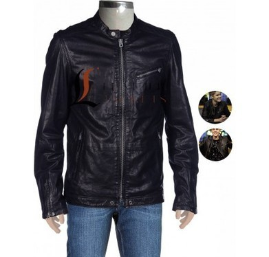 Snap Buttons Fall Winter black Leather Jacket | Unique collection of celebrity jackets its now | Scoop.it