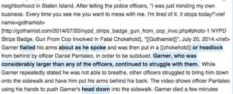 NYPD caught wikiwashing Wikipedia entries on police brutality | Archivance - Miscellanées | Scoop.it