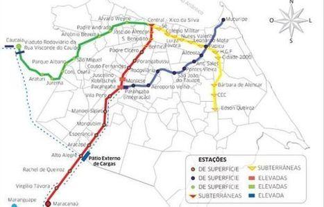 Brasil |Quatro consórcios foram habilitados para a construção da Linha Leste do Metrô, em Fortaleza | Notícias-Ferroviárias Português | Scoop.it