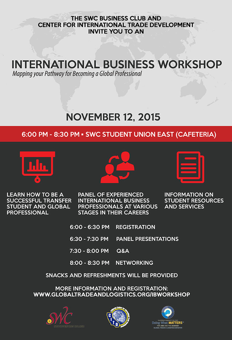 International Business Workshop - Mapping Your Pathway to Becoming a Global Professional - Deputy Sector Navigator Global Trade & Logistics - San Diego & Imperial | International Trade | Scoop.it