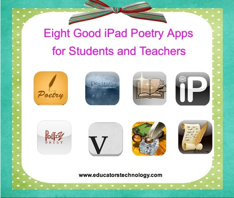 8 Good iPad Poetry Apps for Teachers and Students | Social Media 4 Education | Scoop.it