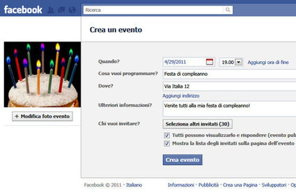Eventi su Facebook: arriva il limite dei 500 inviti | Inside Marketing | Scoop Social Network | Scoop.it