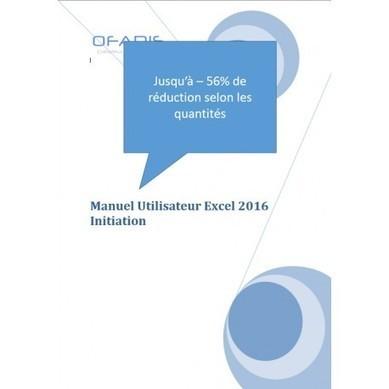 Manuel de formation Excel Initiation 2016 | Nos ouvrages pédagogiques sur la bureautique | Scoop.it
