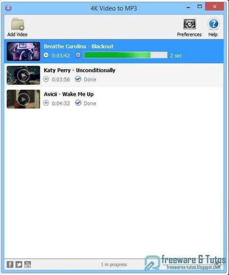4K Video to MP3 : un logiciel gratuit qui extrait l'audio à partir de n'importe quelle vidéo | Geeks | Scoop.it