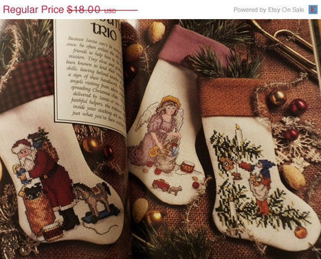 Sale Vintage Christmas Cross Stitch Sewing Pattern Book New | CROSS STITCHING FOR STITCHERS WHO LOVE TO STITCH | Scoop.it