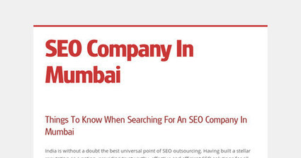Things To Know When Searching For An SEO Company In Mumbai | Bookmark | Scoop.it