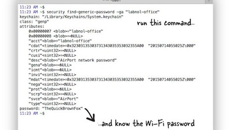 Find the Wi-Fi Password for Your Current Network with the Command Line | Bazaar | Scoop.it