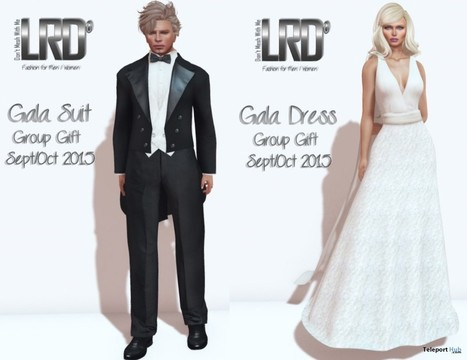 Gala Suit and White Dress September 2015 Group Gift by LinealRise Design | Teleport Hub - Second Life Freebies | Second Life Freebies | Scoop.it