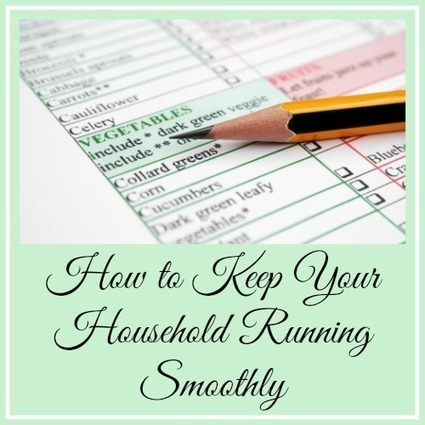 How to Keep Your Household Running Smoothly | Homemaking | Scoop.it