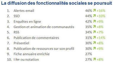 La diffusion des RSE et de leurs fonctionnalités sociales se poursuit | Formation entreprise RSE | Scoop.it