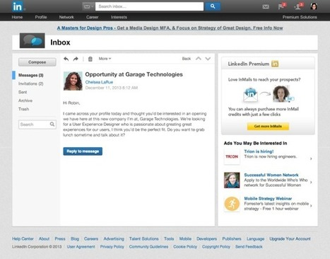 LinkedIn Refreshes Its Inbox With Message Previews And A Simpler Interface To Keep Users Around Longer | TechCrunch | Technology for Productivity | Scoop.it