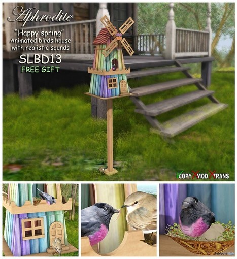 Happy Spring Bird House SL13B Gift by Aphrodite Shop | Teleport Hub - Second Life Freebies | Second Life Freebies | Scoop.it
