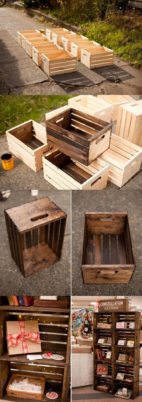 Cassette della frutta: 22 idee per riciclare in modo creativo | 2B3 La tua casa in legno | Scoop.it