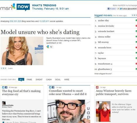 Microsoft Launches Curation Site msnNow | InformationWeek | WEBOLUTION! | Scoop.it