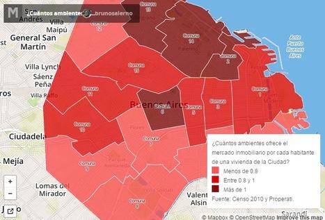 Recoleta, el barrio con más ambientes por persona. Mapa interactivo de Properati. | Actualidad Inmobiliaria | Scoop.it