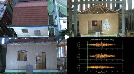 La tenue au séisme d'une maison à ossature bois en vidéo au CEA Saclay | architecture..., Maisons bois & bioclimatiques | Scoop.it