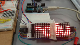 Davids Maker Space Tech Explorations: 8x16 LED matrix controlled by 2 MAX7219's - requires only 3 Arduino pins | Raspberry Pi | Scoop.it
