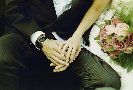 Wedding couple bride groom holding hands analogue film photography by edwardolive | Bodas | Scoop.it