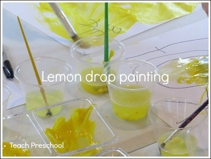 Lemon drop painting | Happy Days Learning Center - Resources & Ideas for Pre-School Lesson Planning | Scoop.it