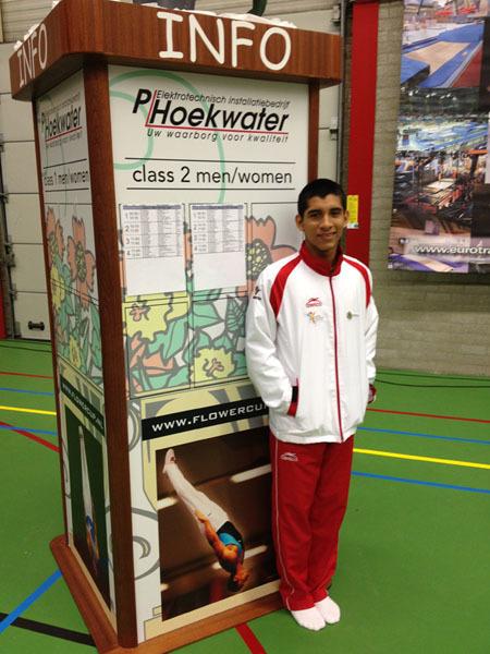 Castro Martínez, finalista en Holanda de Gimnasia de Trampolí