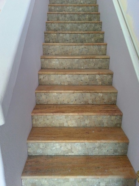 Phoenix Travertine Stair Treads and Risers Remodeling Ideas | Popular Marble Limestone Travertine Tile Patterns | Scoop.it