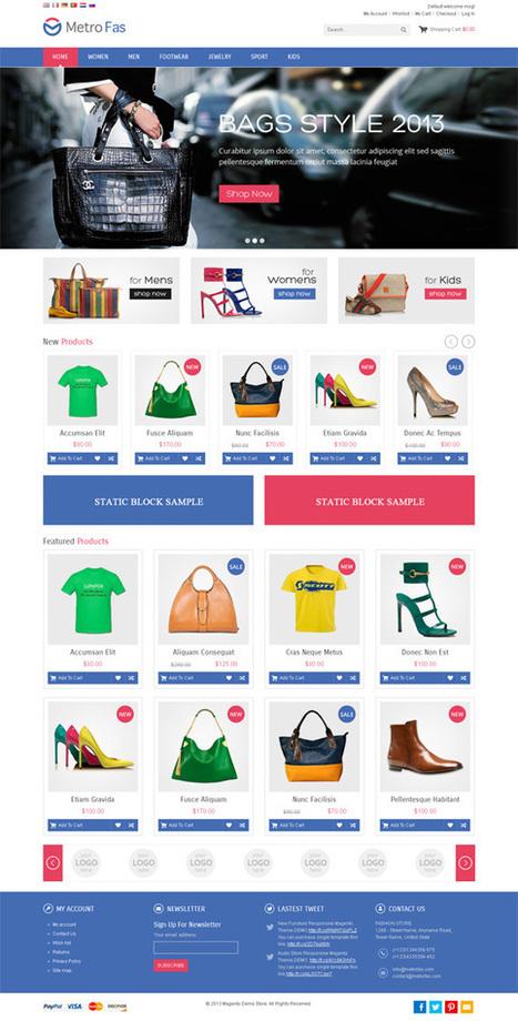 MetroFas, Magento Pro Bags Shoes Store Theme | Premium Download | Premium Magento Themes | Scoop.it