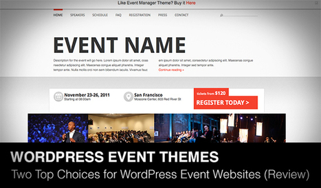 Event Manager Theme and Januas: Two Top Choices for WordPress Event Websites | Daily Design Notes | Scoop.it