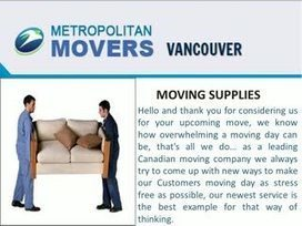 Moving Company In Vancouver British Columbia | Metropolitan Movers | Scoop.it