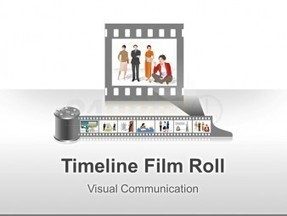 Timeline Film Roll PowerPoint - Editable PPT - 24point0 | timeline | Scoop.it