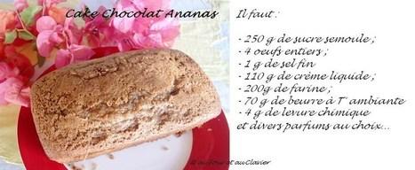 Cake au chocolat et ananas caramélisé, d'après une recette de l'Encyclopédie du Chocolat | The Blog's Revue by OlivierSC | Scoop.it