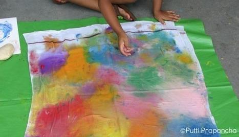 Ice Cube Fabric Painting !! ~ Putti Prapanchakids-activities   Trabalhos Manuais no Jardim de Infância   Scoop.it