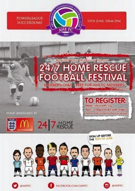 Registrations kick off for 24 7 Home Rescue Football Festival   PRLog   boiler breakdown cover   Scoop.it