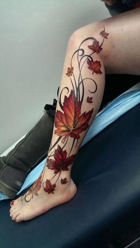 40 Best Leaf Tattoo Design Ideas | Tattoos Era | sscsworld | Scoop.it