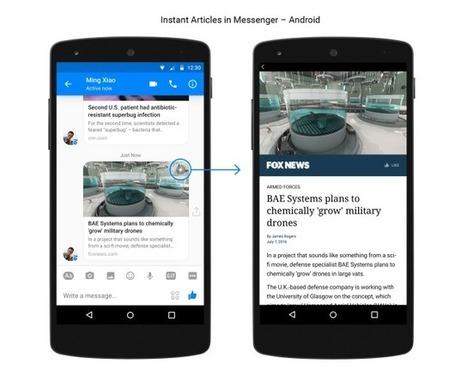 Facebook : les instant articles intégrés à Messenger - Blog du Modérateur | Smartphones et réseaux sociaux | Scoop.it