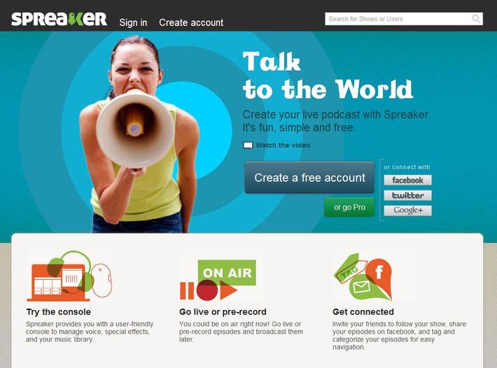 Maak een hoorspel, interview, samenspraak of radiostation met Spreaker | Edu-Curator | Scoop.it