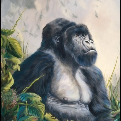 Gorilla Print | Wildlife Paintings by: Laura Curtin | Worth A Look | Scoop.it