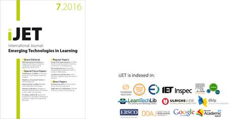 International Journal of Emerging Technologies in Learning (iJET) Volume 11, Issue 07 (2016) | Edumorfosis.it | Scoop.it
