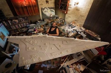 Guy Building Giant Star Destroyer | All Geeks | Scoop.it
